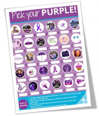 A photo of Pick your Purple from the Turn it Purple campaign