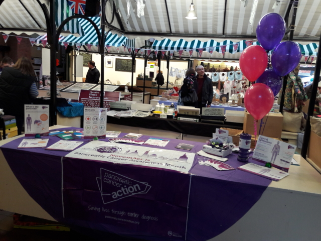 One of our wonderful reps, Jilly Murray, raising awareness at Sandbach Indoor Market pic. Woop! WPCD Go!