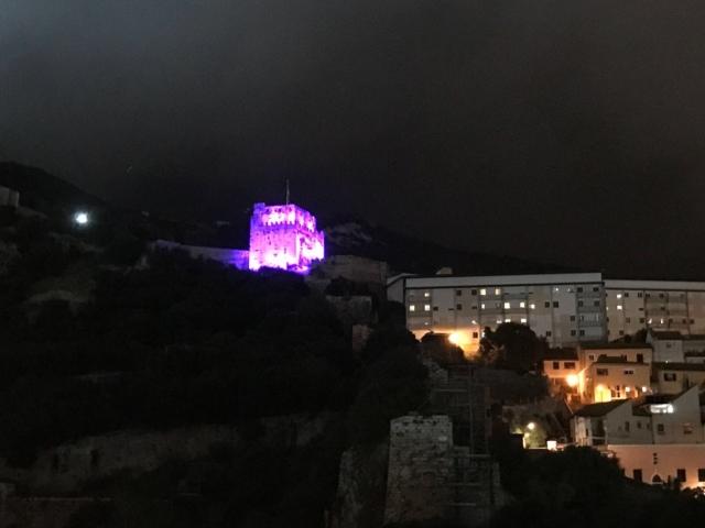 The Moorish Castle in Gibraltar #LightItPurple