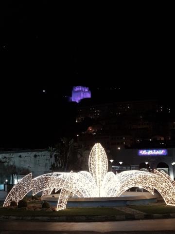 The Moorish Castle can be seen all over Gibrlatar #LightItPurple