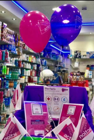 Pharmacies in Gibraltar Turn It Purple for Pancreatic Cancer Awareness Month!
