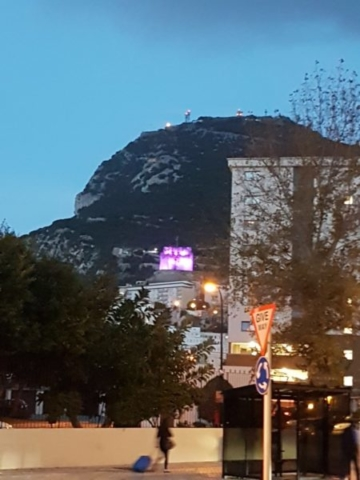The Moorish Castle can be seen all over Gibrlatar #LightItPurple