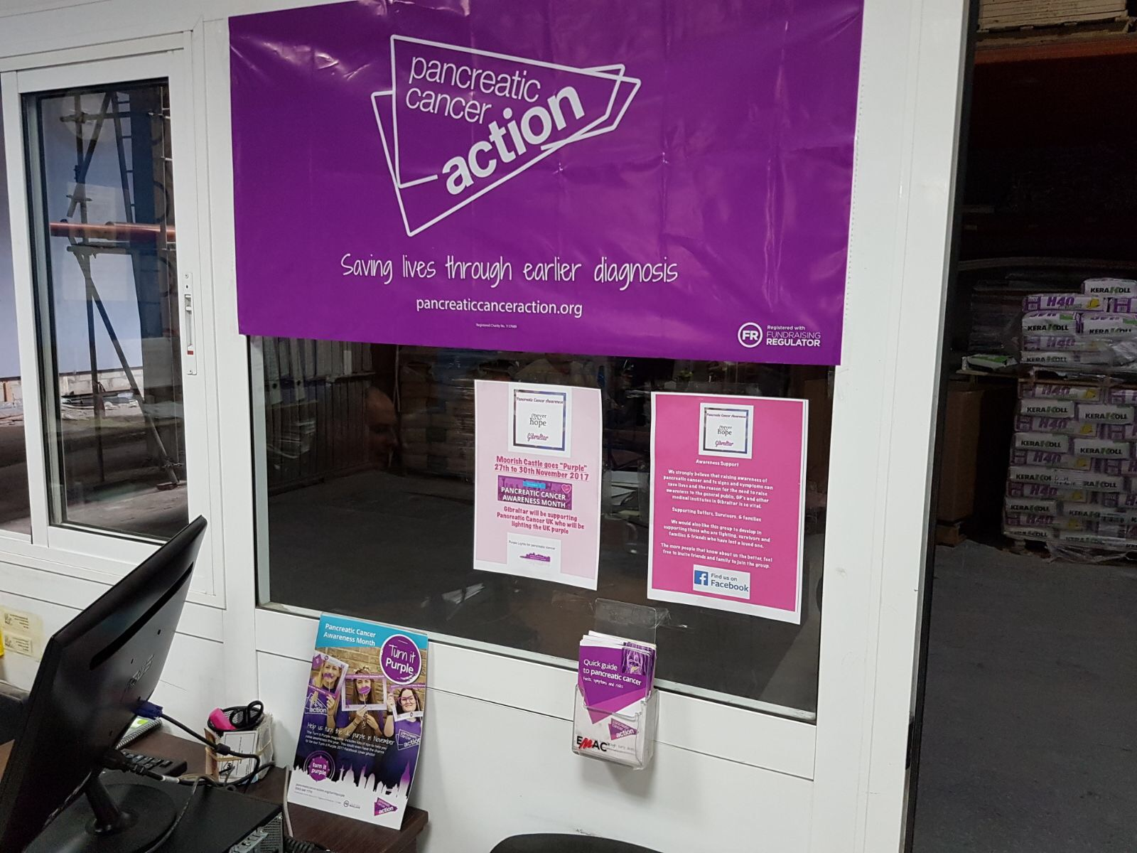 Businesses in Gibraltar Turn It Purple for Pancreatic Cancer Awareness Month!