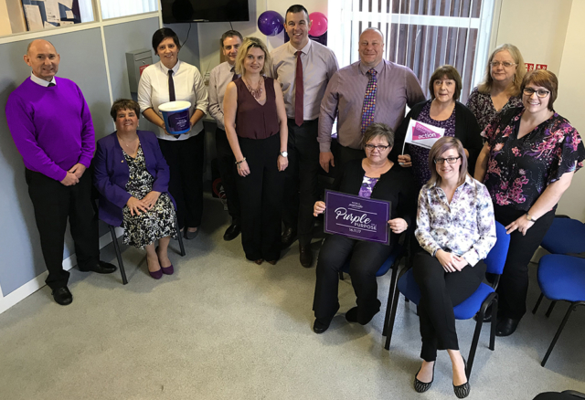 Thank you Helen Smith and everyone at Stagecoach for Turning it Purple!!!