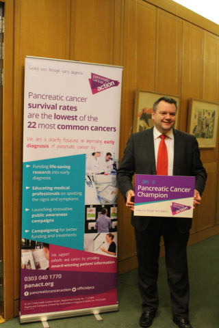 Nick Thomas-Symonds MP at Pancreatic Cancer Action's parliamentary drop-in session