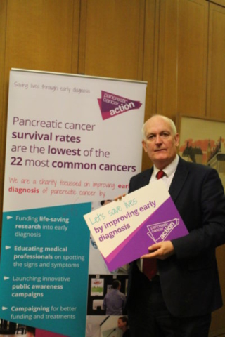Chris Ruane MP at Pancreatic Cancer Action's parliamentary drop-in session