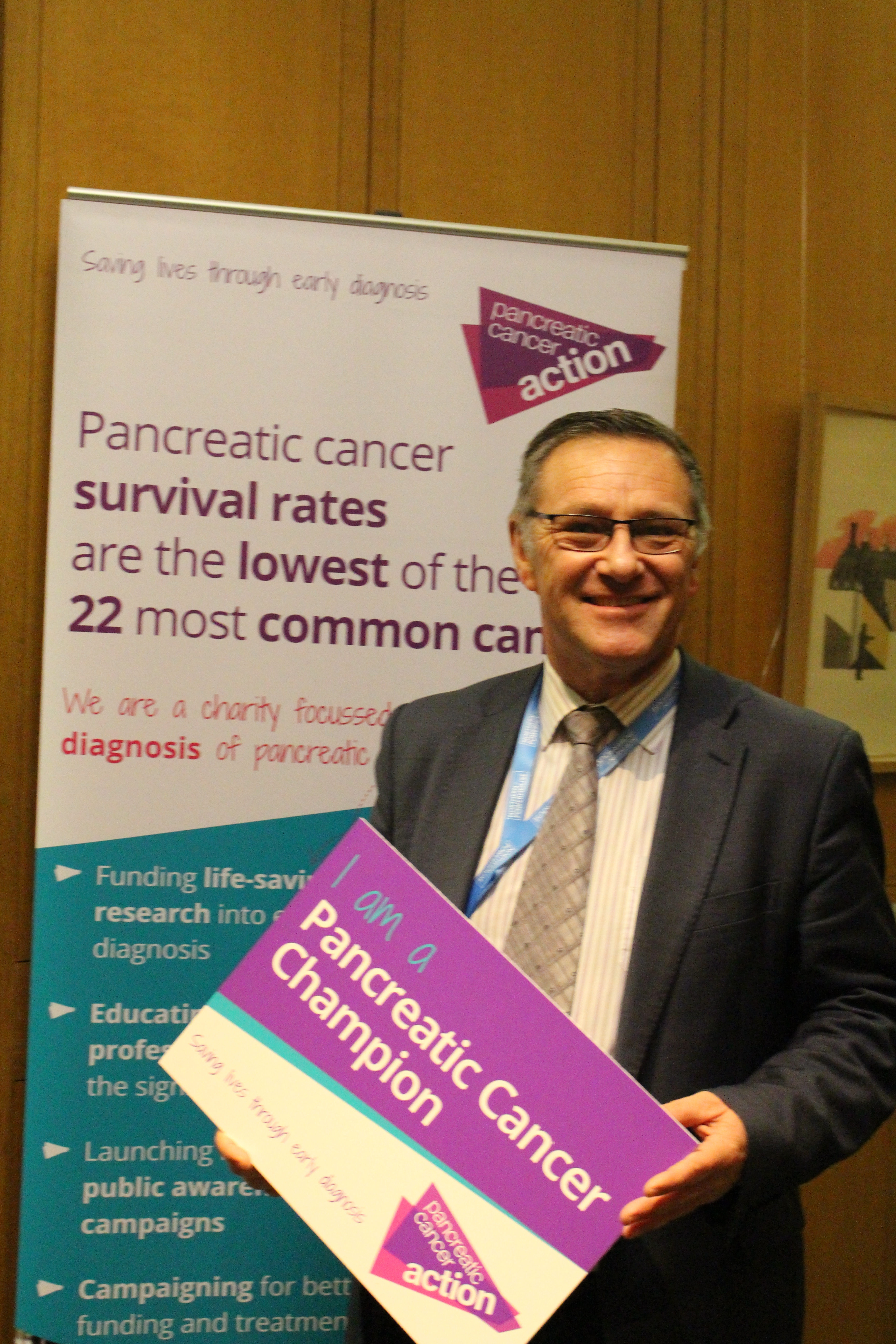 Craig Whittaker MP at Pancreatic Cancer Action's parliamentary drop-in session