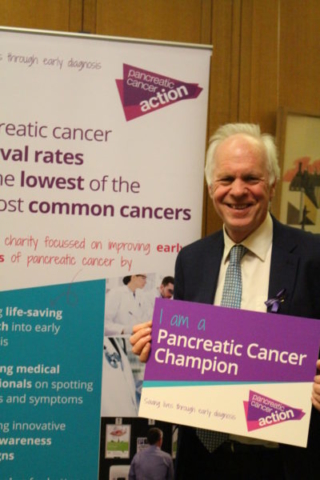 Nic Dakin MP at Pancreatic Cancer Action's parliamentary drop-in session, which he hosted.
