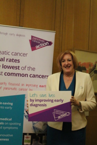 Yvonne Fovargue MP at Pancreatic Cancer Action's parliamentary drop-in session