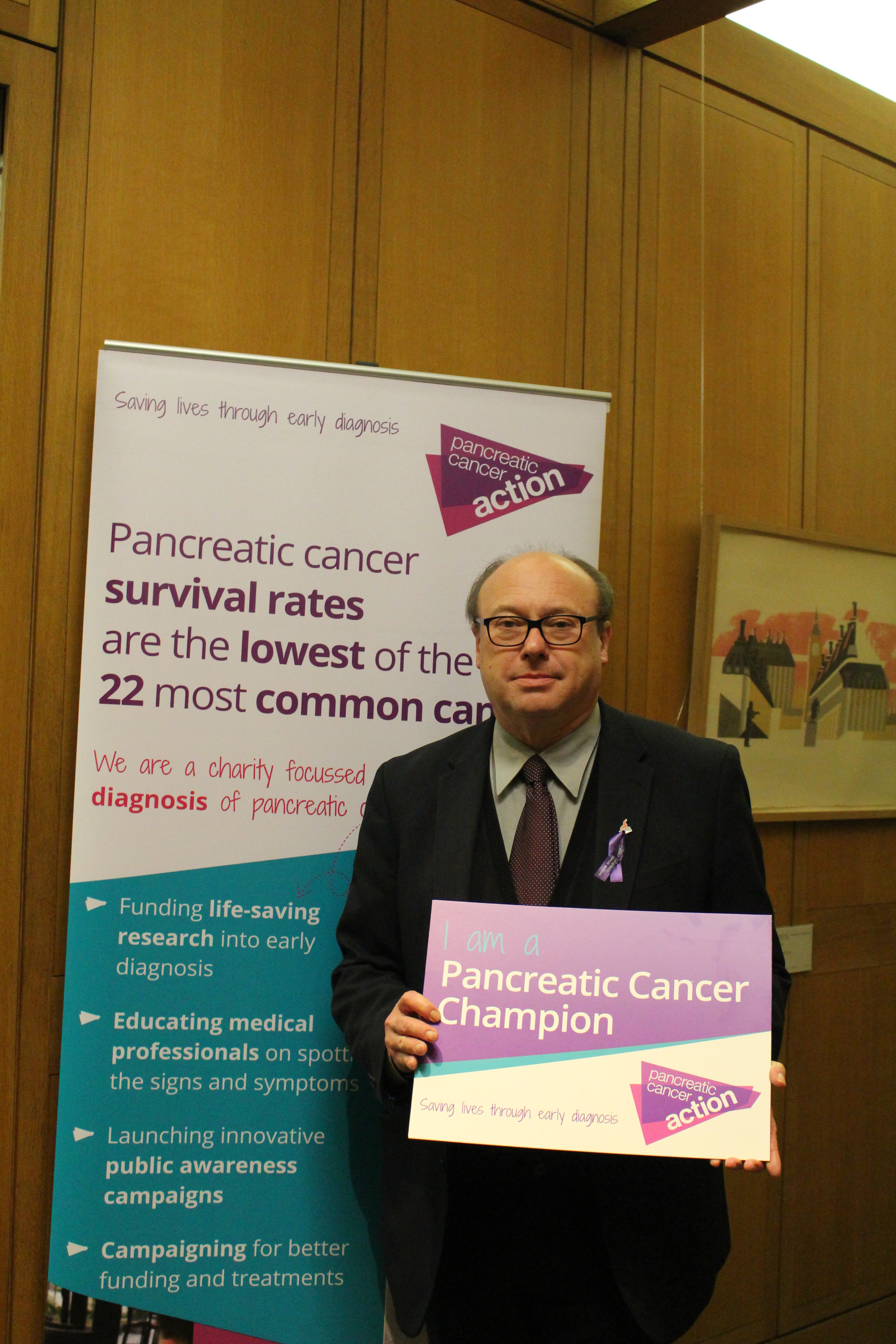 Grahame Morris MP at Pancreatic Cancer Action's parliamentary drop-in session
