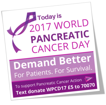 16th November is World Pancreatic Cancer Day.