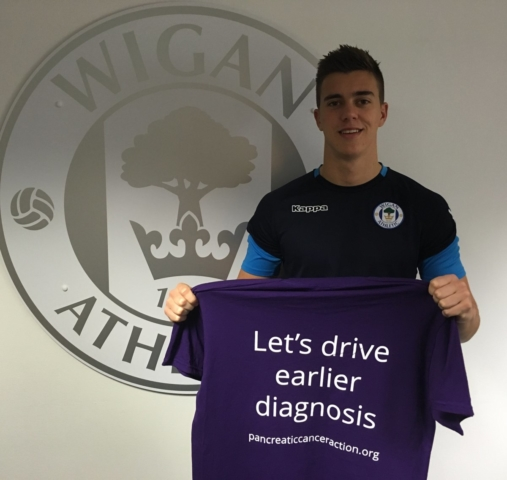 Thank you so much to Wigan Athletic F.C. for showing their support for #WorldPancreaticCancerDay.  🌟 Take action to raise awareness about pancreatic cancer, the symptoms and risks of this disease, and the urgent need for earlier detection.  #wafc #WPCD #turnitpurple