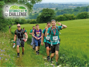 An image showing a group of people hiking. Take part in the Cotswold Way Challenge for Pancreatic Cancer Action in 2018