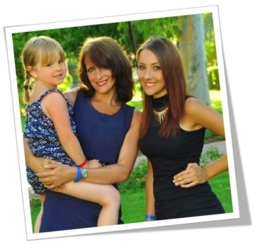 An image of Hannah Myatt with her mum, Sharon, and sister. Hannah is going to raise funds for Pancreatic Cancer Action
