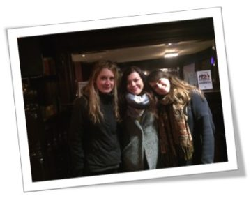 Lauren Cornish with her friends, Sophie and Sasha, will be walking from coast to coast for Pancreatic Cancer Action