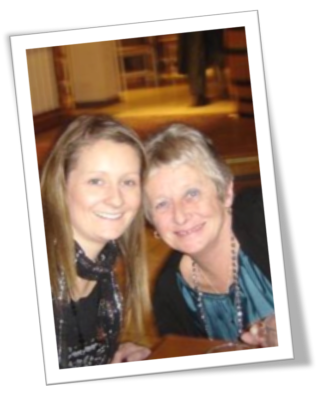 A picture of Kelly Booth and her mum, who sadly passed away from pancreatic cancer