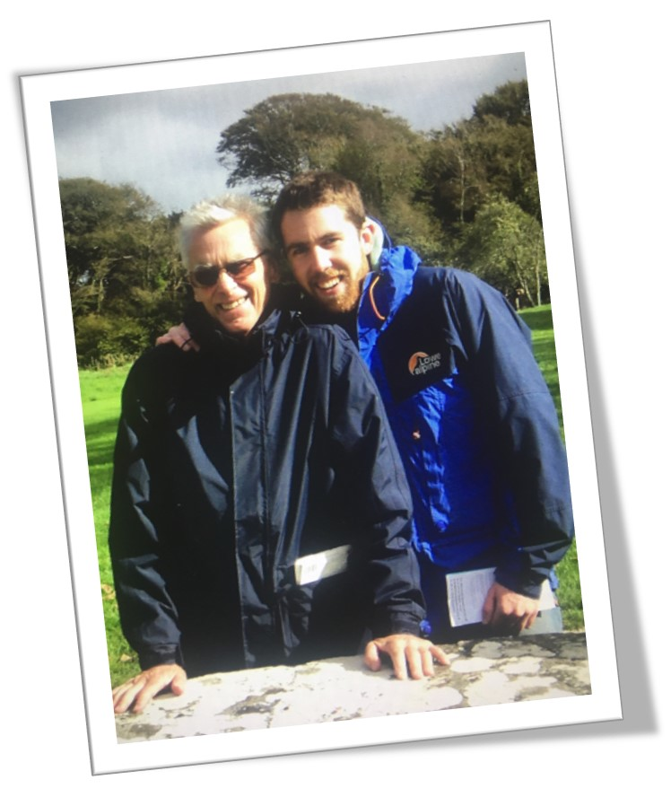 A photograph of Rob Copley and his father, John, who sadly passed away from pancreatic cancer.
