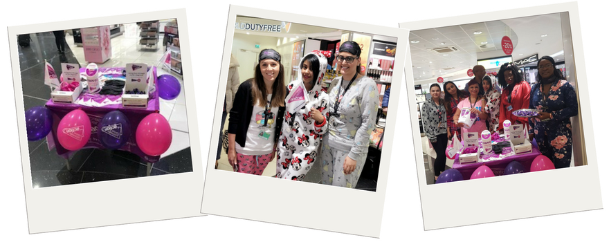 A collection of images that support the fundraising campaign Pyjamas For PanCan