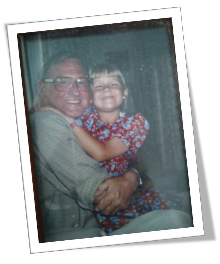A picture of Emma Hardy and her granddad, who sadly passed away from pancreatic cancer