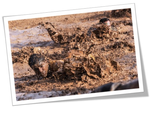 An image of a mud run, similar to what Paul Taplin has taken part in