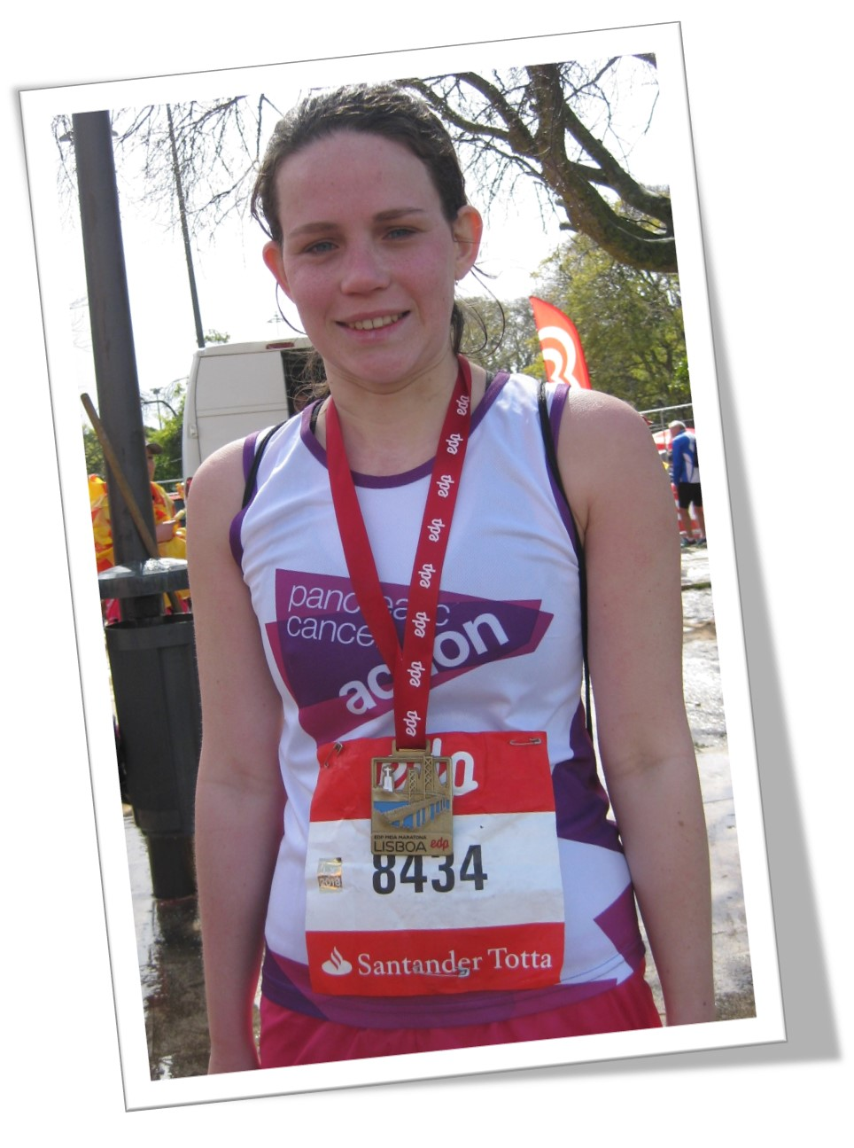 A picture of Sarah Dunford, who will be running the London Marathon for Pancreatic Cancer Action