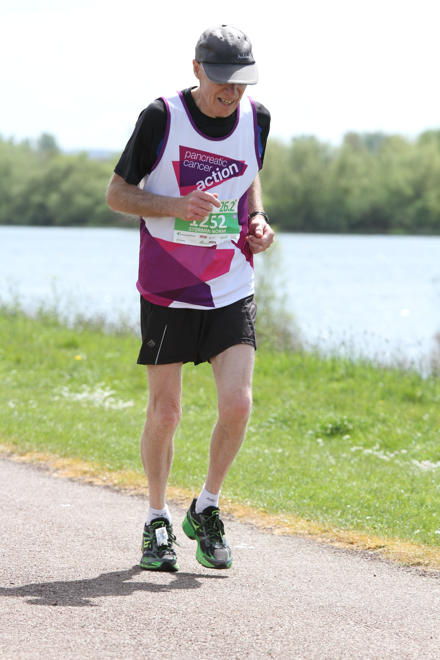 A picture of Norman Whitwood as part of the dedicated family who raise money for Pancreatic Cancer Action