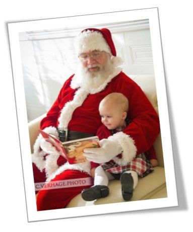 An image of Angela's father, Thomas, dressed up as Santa Clause - Angela shares her story