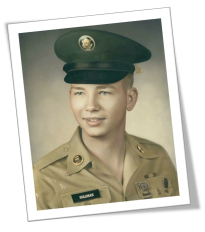 An image of Angela's father, Thomas, when he was young and serving in Vietnam - Angela shares her story