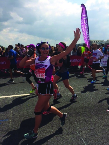 A picture of Jenni Kelly as part of the dedicated family who support Pancreatic Cancer Action