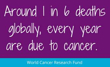 A quote to represent the stats associated with the new blueprint for beating cancer