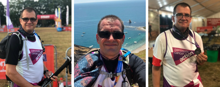 George Moss along the Jurassic Coast Challenge route