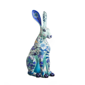 Blue Hare, a Haslemere Hares sponsored by Blue Hair Grayshott and created by artist Ziggy J Simon