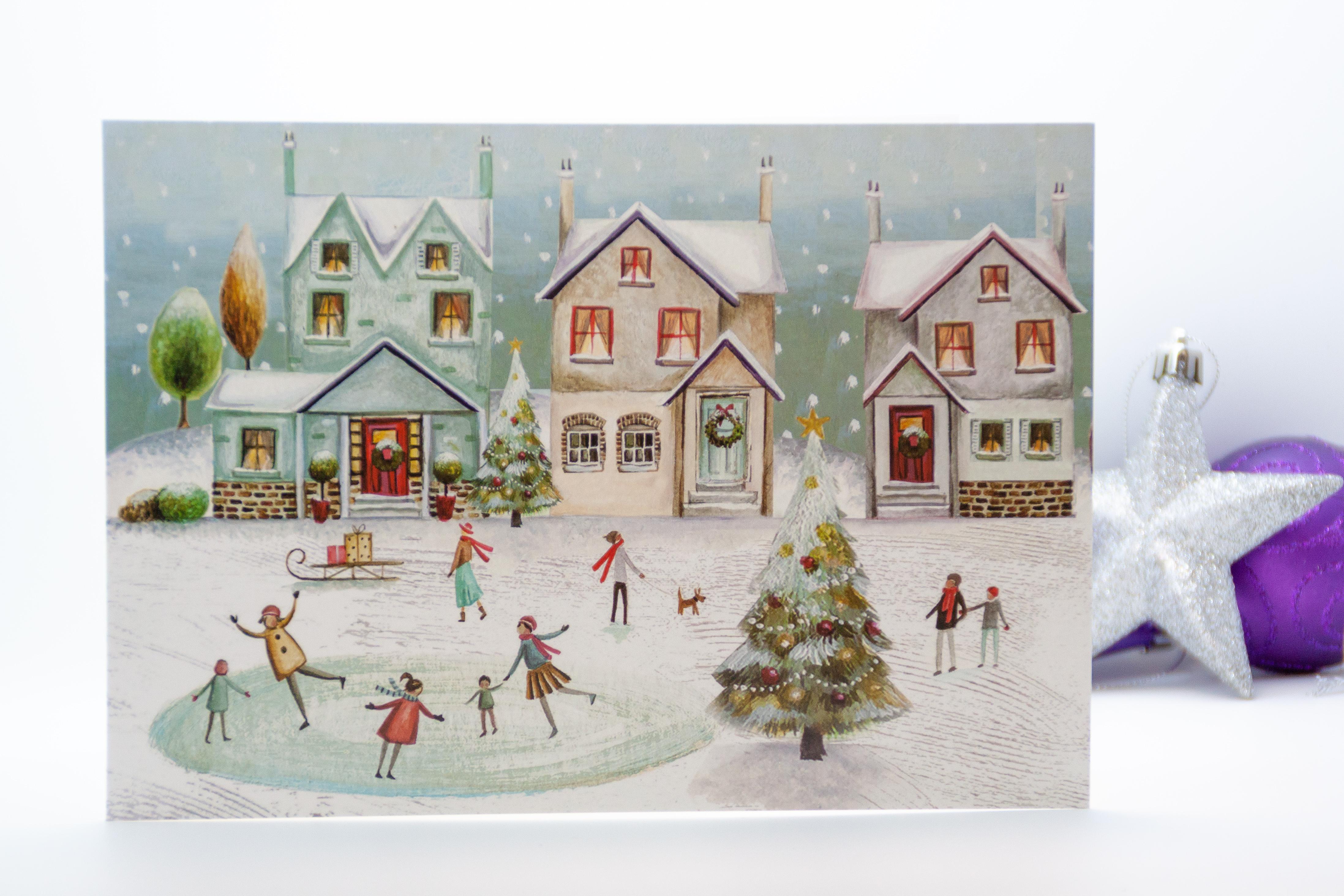 Frozen Fun Christmas Card Pancreatic Cancer Action