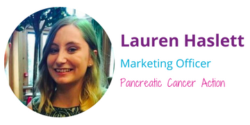 Pansy Tribute with Pancreatic Cancer Action - by Lauren
