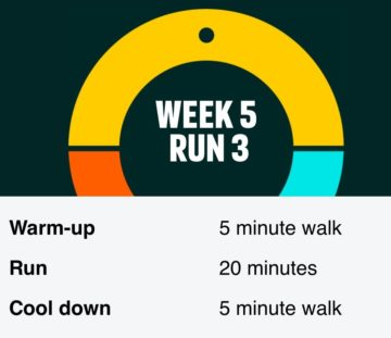 Laurens couch to 5k challenge week 5 running stats