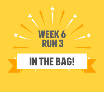 Lauren's Couch to 5k running challenge week 5 completion medal