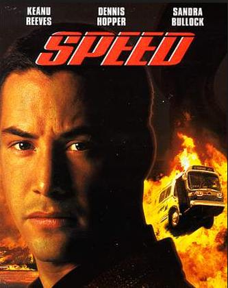 Keanu Reeves in the poster for the movie SPEED