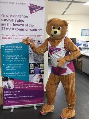 The #TeamPCA Aware Bear mascot is running The Great South Run