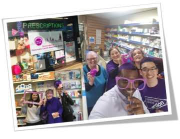 Turn it Purple - pharmacy photos