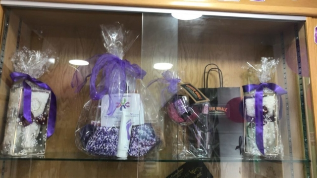 Purple raffle for Pancreatic Cancer Action's Turn it Purple campaign