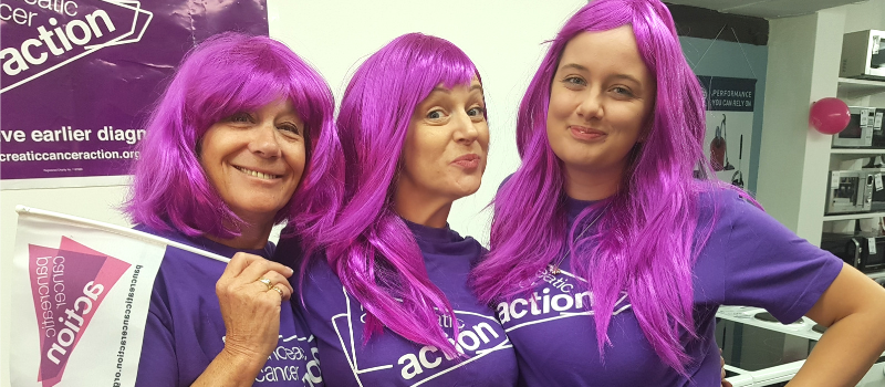 Wear it Purple - Pancreatic Cancer Action supporters