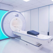 Magnetic resonance imaging in Hospital. Medical Equipment and Health Care.