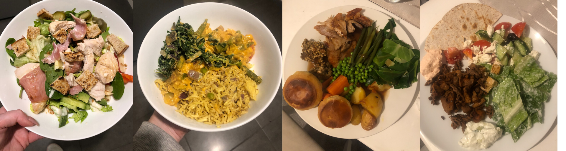 Some examples of the healthy meals I've been eating