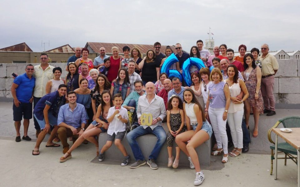 Louis 60th with family