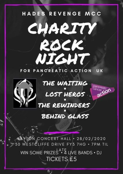 Charity Rock Night Flyer