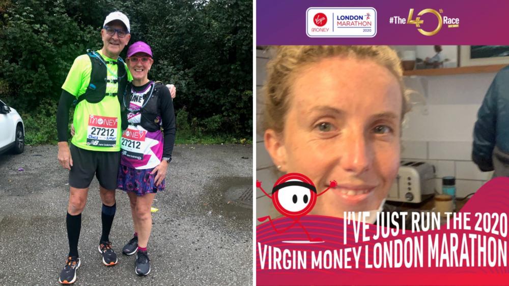 Virtual Marathon London - Jane and Sarah