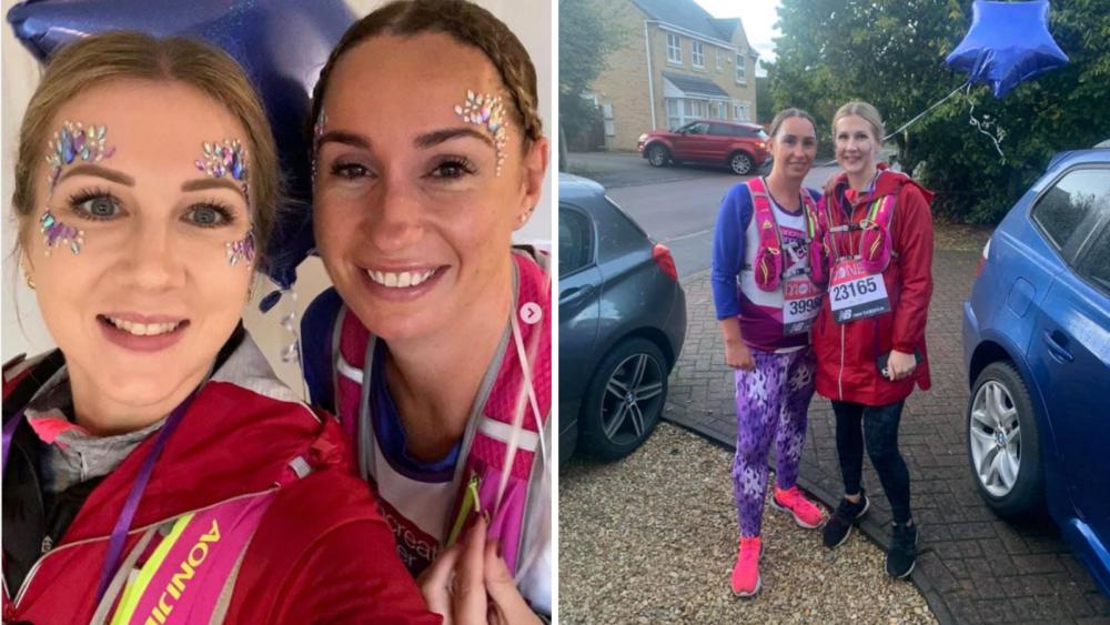 Virtual London Marathon - Tasha and Frankee