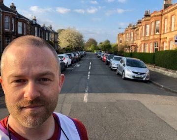 Gavin Oates and members of his road ran 102 miles!