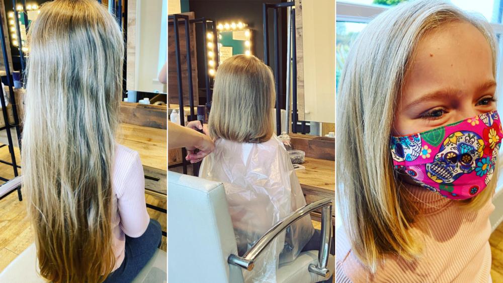 Alba Donating Hair