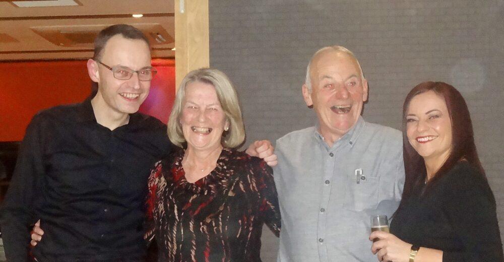Calum, Pauline, David and Lesley Irving